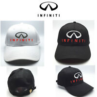 INFINITI baseball Cap Unisex hat Embroiderey logo Adjustable Strap black/white