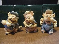 Harmony Kingdom Disney The Three Little Pigs Practical Fifer Fiddler Box Figures