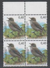 OBP 3265 Buzin - Grauwe Vliegenvanger - Blok van 4