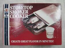 The Frugal Gourmet Stainless Steel Stovetop Smoker Cooker Steamer BBQ Camping