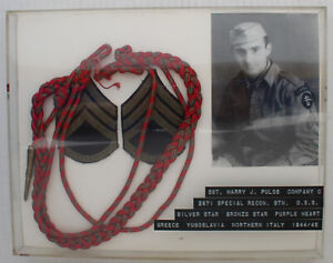 WWII US OSS Grouping Belgian Fourragere Cord and Stripes