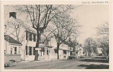 Scene on Main Street in New Market Md Postcard