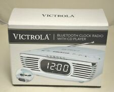 Victrola Bedside Digital Led Alarm Clock Radio with Cd Player, Turquoise