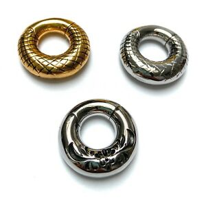 Ornate Circular, Gold and Silver Ear Weights Hangers 6mm+