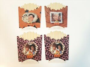 1993 Lot of 4 McDonald's French Fries Boxes - The Flintstones