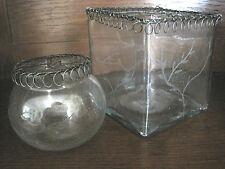 ♛ Madleys ♛ Blumensteckvase ♛ Vase mit Gittergeflecht ♛ Glas geschliffen ♛ Neu ♛