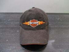 Harley Davidson Hat Cap Strap Back Black Orange Motorcycle Biker Kids Boys Youth