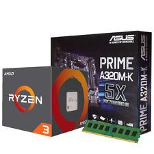 AMD ASUS PRIME A320M-K 4GB DDR4 RYZEN 3 1200 3.1GHz CPU & M.2 GAMING BUNDLE