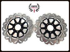Front Brake Disc Rotors Set for Kawasaki ZX6R ZX9R ZX12R Wave Rotors