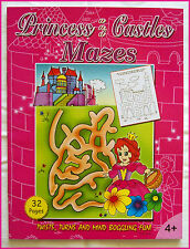 PRINCESS & CASTLES MAZES BOOK - KIDS Activity Maze Fun 27 x 21cm (32 Pgs) NEW 4+