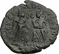 Constans Gay Emperor Constantine the Great son Roman Coin Two Victories i36364