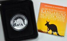Australia 2011-P S$1 Silver Kangaroo - High Relief Proof Coin Australian