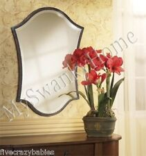 Elegant Large Shaped Bronze Wall Mirror Vanity Mantle Traditional Contemporary