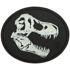 Maxpedition T-Rex Tyrannosaurus Skull 3D Rubber Moraal Patch Badge Glow