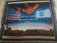 Jerusalem Prayer Team Member Tapestry Blanket Throw Bible Verse Quote Decor
