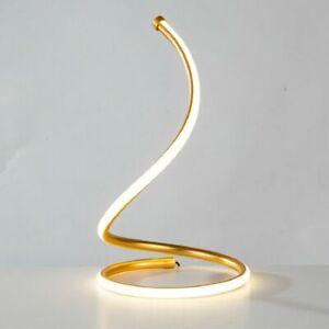 Visual Night Light Table Desk Lamp Bedroom Bedside Simple Creative Spiral Design