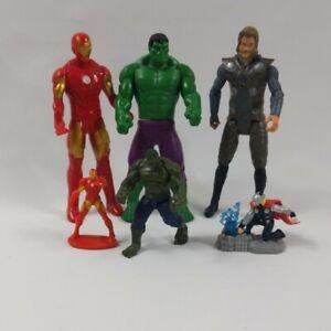 """Marvel Hasbro 6"""" Figure Bundle Hulk , iron man Thor and mini figures free post"""