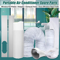 Window Slide Kit Plate Adaptor Exhaust Hose Duct Vent Tube For Air Conditioner
