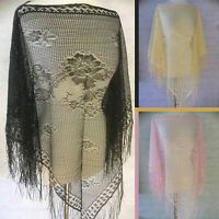 2 PACK Ladies Womens Floral Lace Beach Cover Up Poncho Ideal Over Evening Dress