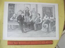 Vintage Print,HOME FROM COLLEGE,AB.Frost,PF.Collier,Book of Drawings,1904