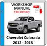CHEVROLET CHEVY COLORADO 2012 2013 2104 2015 2016 2017 SERVICE REPAIR MANUAL