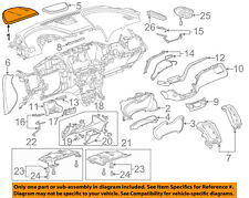 Chevrolet GM OEM 14-16 Impala Instrument Panel Dash-Cluster Visor Hood 23431755