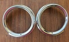 1961 CHEVROLET NOS TWO HEADLIGHT RINGS IMPALA, BELAIR, BISCAYNE RH, LH