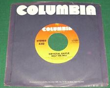 CRYSTAL GAYLE-  Half The Way / Room For One More (45 RPM, 1979) VG+
