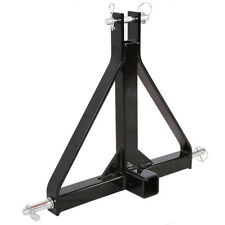 """3 Point 2"""" Receiver Trailer Hitch Category 1 Tractor Tow Drawbar Adapter"""