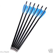 "6 Pcs 20"" Crossbow Bolts Premium Aluminum Arrows Hunting Archery Dead Strike"
