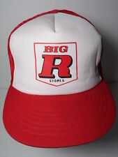 Vintage 1980s BIG R STORES Western Automotive Farm Advertising SNAPBACK HAT CAP