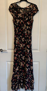 New Look Floral Print Maxi Dress With Slip Size 12