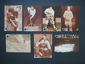 HOCKEY CARDS 7 ct Lot Jacques Plante George Vezina Joe Malone Tallon 1991 ProSet