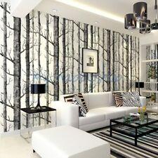 3D Walls Snowy Birch Tree Designer Art Background Backdrop Wall Paper Wallpaper