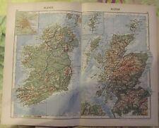 1962 Carte Écosse Irlande,Inverness ,Col de Glengesh ,Presqu'ile de Dingle