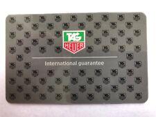 1 Tag Heuer OEM Blank International Guarantee Card Worldwide Ship