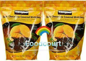 2 Packs Kirkland Signature Dark Chocolate Covered Mangoes 20.46 oz Each Pack