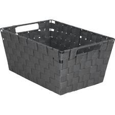 Hipp Hardware Plus Large Gray Woven Basket 748106-GR Unit: EACH