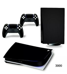 Pure Black Colour PS5 Skin Decal Vinyl Wrap Cover Sticker for PlayStation 5