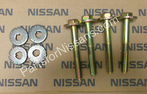 GENUINE NISSAN 2004-2020 TITAN ARMADA FRONT ALIGNMENT KIT BOLT ECCENTRIC WASHER