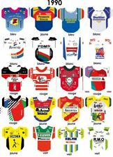 Maillots autocollants pour cyclistes miniatures peloton complet 1960-1999