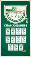 Bill Russell Banner Autographed / Signed Exclusive 30th Anniversary Banner