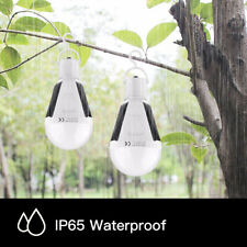 12W Solar LED Light Bulb IP65 Waterproof Rechargeable Emergency Touch Lamp O3Q2