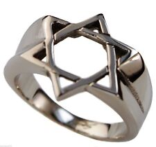 Star of David mens ring 316L stainless steel size 9
