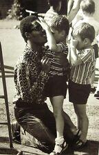 STEVIE WONDER clipping Children's Home for Blind B&W photo 1970 London