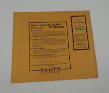 Scott Canada #33 1981 Specialty Supplement 240S081 Stamp Album Pages