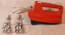 VINTAGE JC PENNEY RED 3 SPEED HAND MIXER WORKS GREAT!