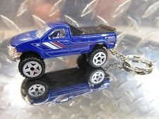 2018 Hot Wheels 18' Blue Ford F-150 Pickup Truck Antique Custom Key Chain Ring!