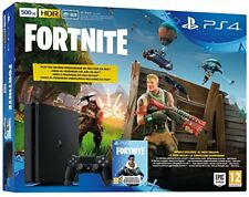 Sony Playstation 4 Ps4 500gb Chassis e Slim Black Fortnite Voucher