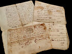 LOT OF THREE Authentic Paper Documents 1600-1700s